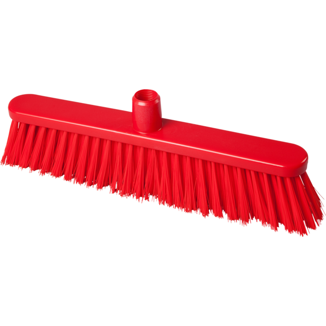 Qleaniq® Broom, medium, 400mm, red 1