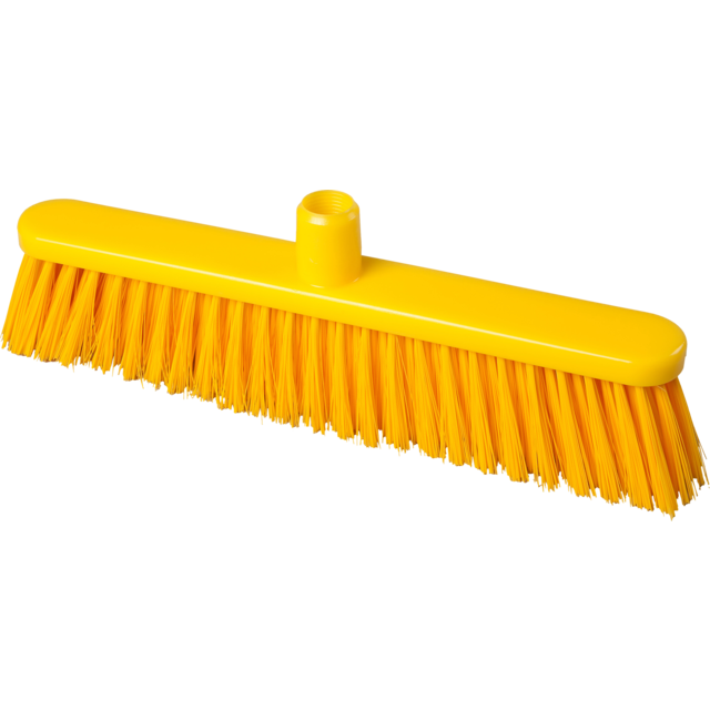 Qleaniq® Broom, medium, yellow 1