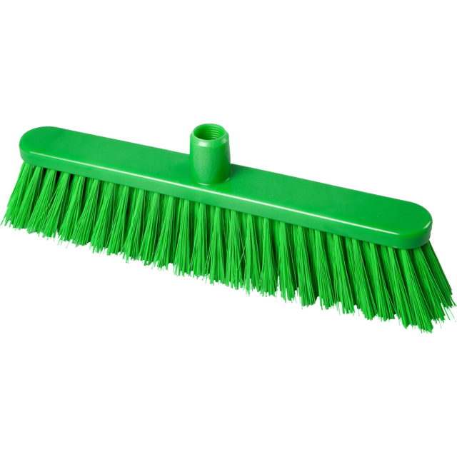 Qleaniq® Broom, medium, 400mm, green 1