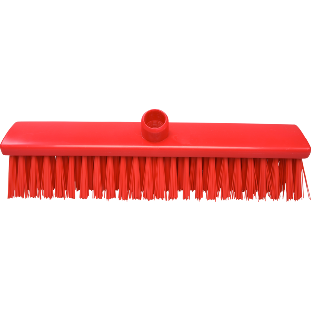 Qleaniq® Broom, extra hard, red 1