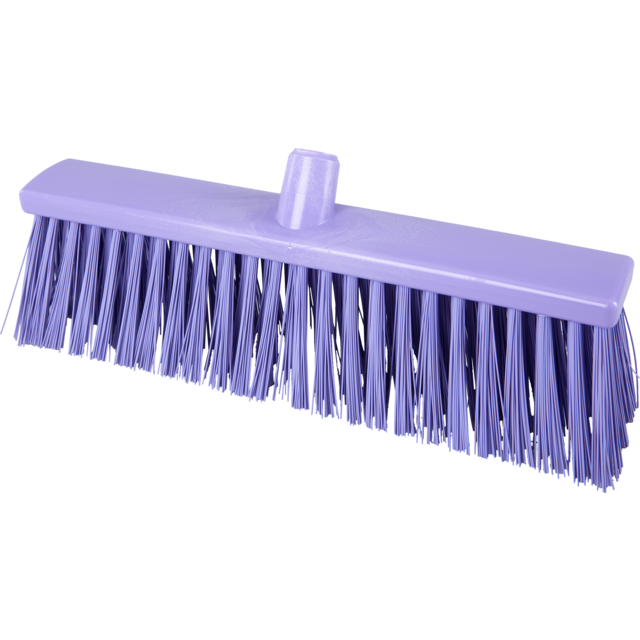 Qleaniq® Broom, hard, purple 1