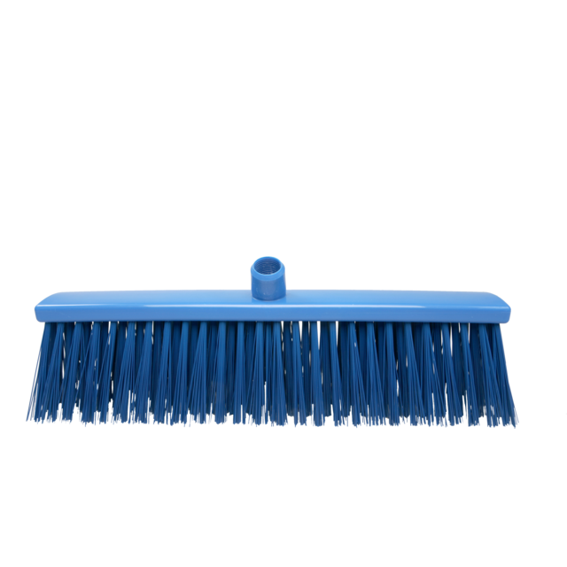 Qleaniq® Broom, hard, 500mm, blue 1