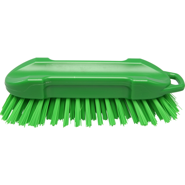 Qleaniq® werkborstel, hard, 210x65mm, green 1