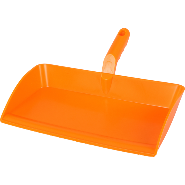 Qleaniq® Dustpan, ergonomisch, PP, orange  1