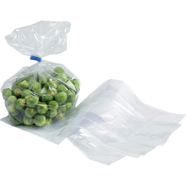 Side fold bag, LDPE, 14/4x32cm, 20my, transparent 1