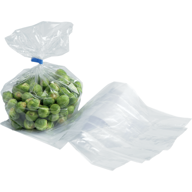 Side fold bag, LDPE, 14/4x45cm, 20my, transparent 1