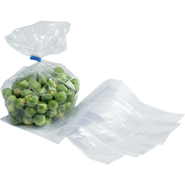 Side fold bag, LDPE, 20/4x35cm, 18my, transparent 1