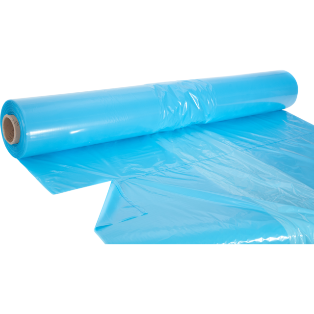 Side fold bag, LDPE, 2/100x210cm, x130cm, 30my, blue 1