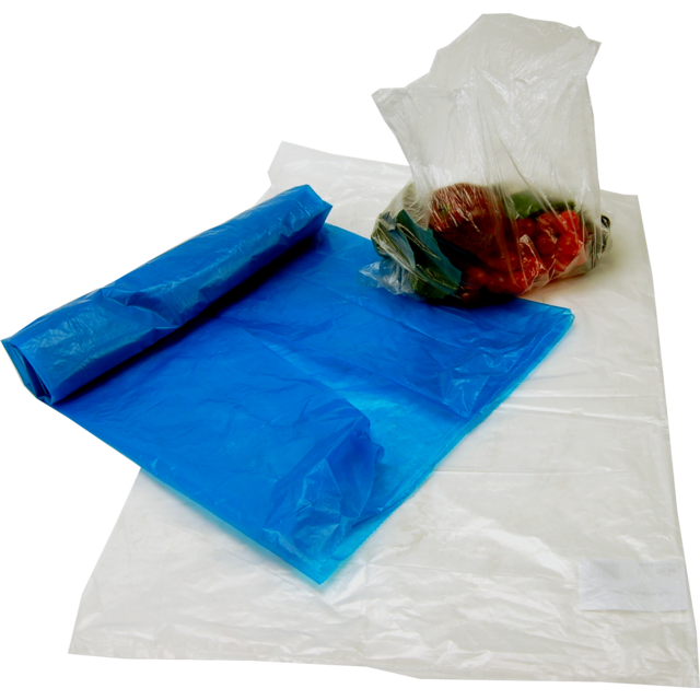 Refuse sack, LDPE, 50x60cm, 25my, transparent 1