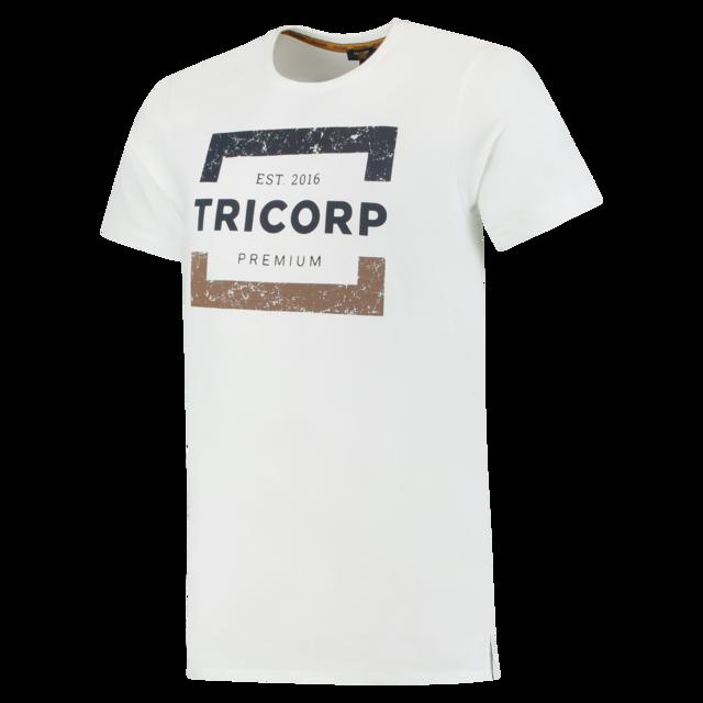Heren T Ronde Premium Mouw Shirt Slimfit Hals Korte Tricorp aFwpq
