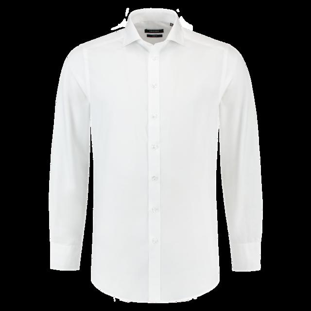 Wit Getailleerd Overhemd.Tricorp Overhemd Corporate Slimfit Lange Mouw 37 5 Heren Wit