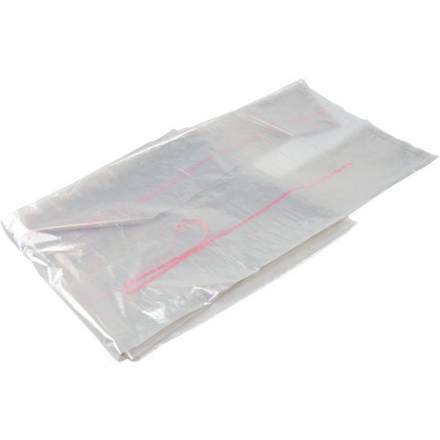 Refuse sack, collecting bag, LDPE, 70/15x200cm, transparent 1