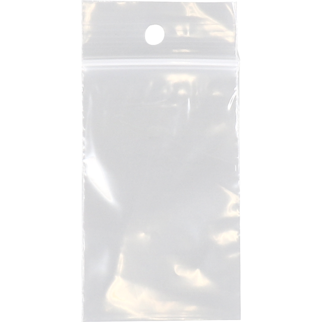 Rib-seal bag, LDPE, 5.5x6.5cm, transparent 1