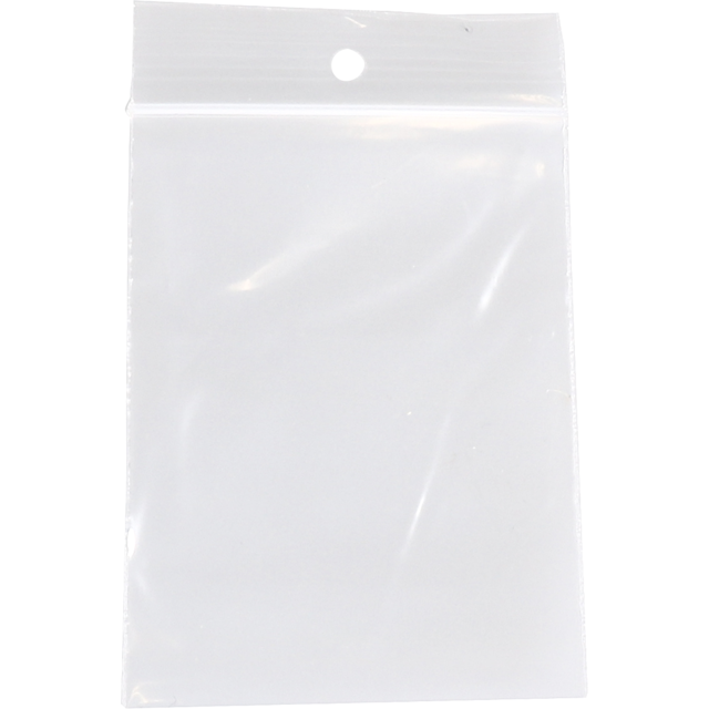 Sac, Sachet refermable, PEBD, 6x8cm, transparent 1