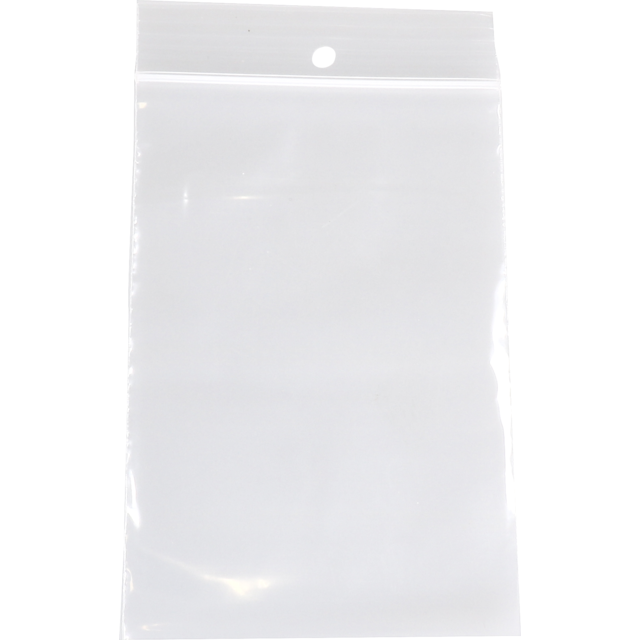 Bag, Rib-seal bag, LDPE, 8x12cm, transparent 1