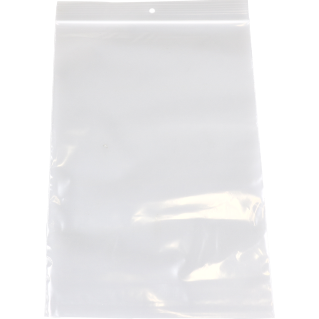 Bag, Rib-seal bag, LDPE, 12x18cm, transparent 1