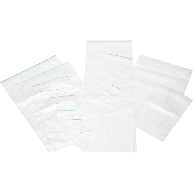 Rib-seal bag, LDPE, 23x32cm, transparent 1