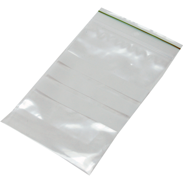 Rib-seal bag, LDPE, 8x12cm, transparent 1