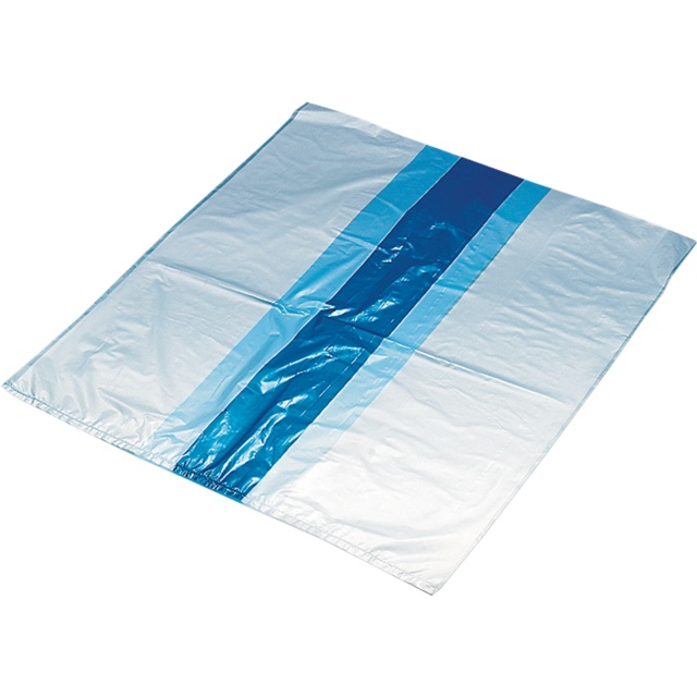 Refuse sack, HDPE, 60/20x70cm, 40my, blue 1