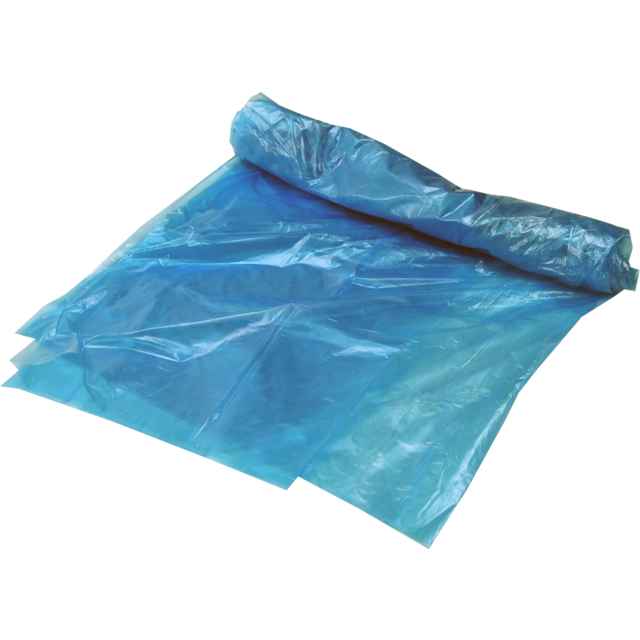Side fold bag, HDPE, 60/44x85cm, 10my, Blocked, blue 1