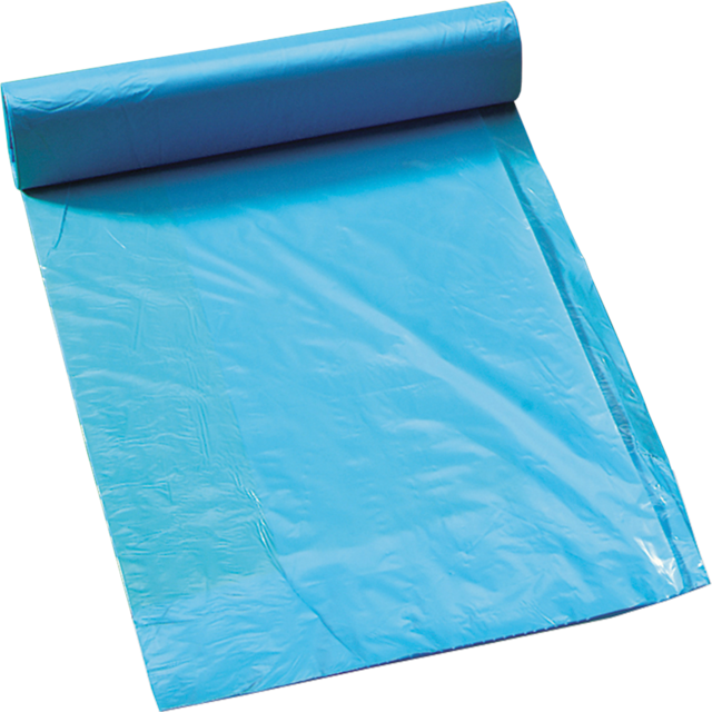Refuse sack, HDPE, 70x110cm, 21my, blue 1