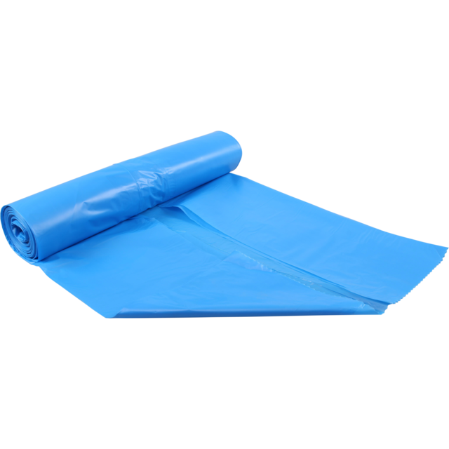 Refuse sack, HDPE, 65/28x140cm, 30my, blue 1