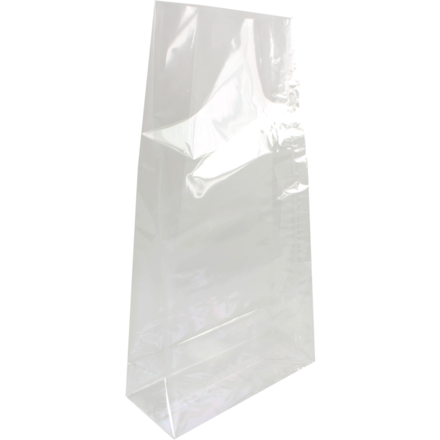 Block bottom bag, PP, 21/18x41cm, 40my, transparent 1