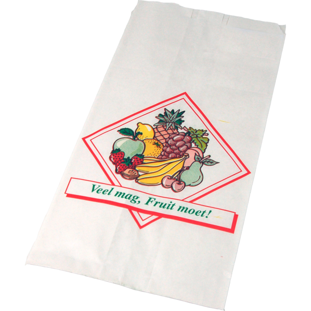Bag, Fruit & vegetable bag, Wit kraft, nr. 1, 14/8x25.5cm, Deluxe, white 1