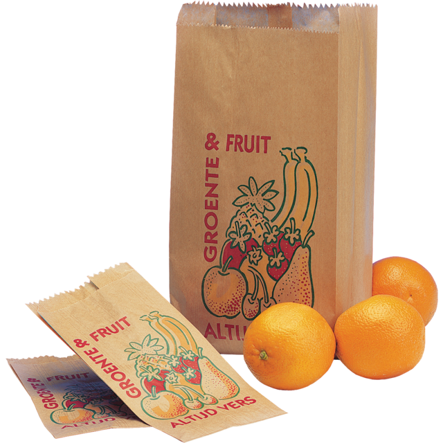 Fruit & vegetable bag, Paper, 10/7.5x22.5cm, Always fresh, brown 1