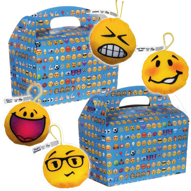 Kidsbox, Karton, Emoji, met pluche smiley, 150x214x115mm 1