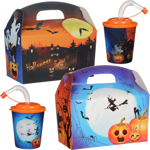 Kidsbox, Karton, Halloween, met 3D-beker, 150x214x115mm 1