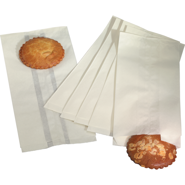 Bread and pastry bag, Paper, 9/6,5x22.5cm, white 1