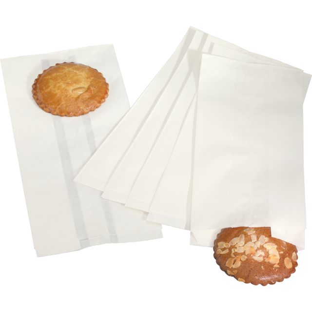 Bread and pastry bag, Paper, 14/8x30.5cm, white 1