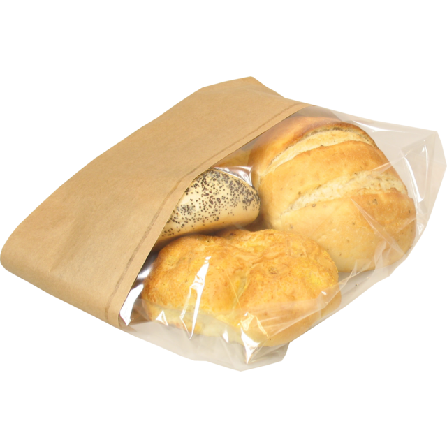 Bread and pastry bag, Paper+kst, 16/5x34cm, brown 1