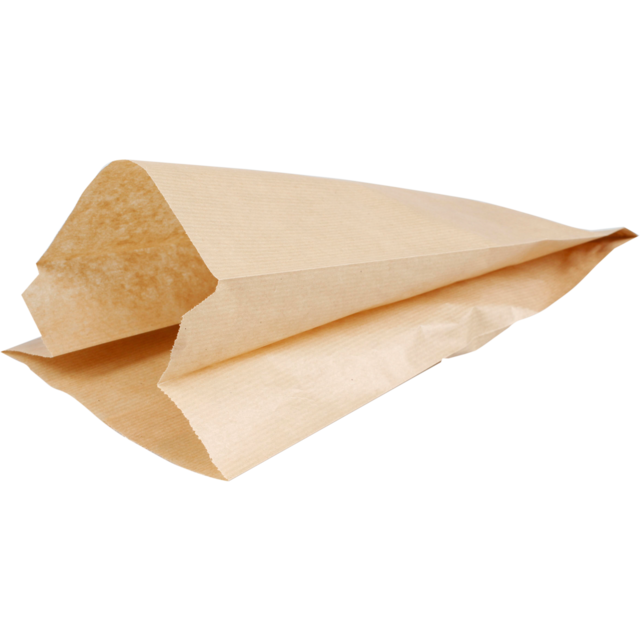 Bread and pastry bag, Kraft paper, 16/10x34cm, brown 1