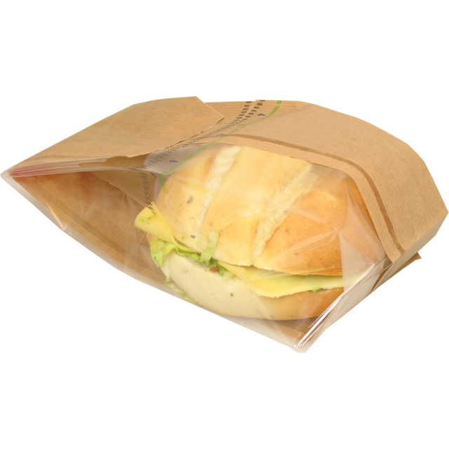 Bread and pastry bag, Paper+kst, 11/6x34cm, brown 1