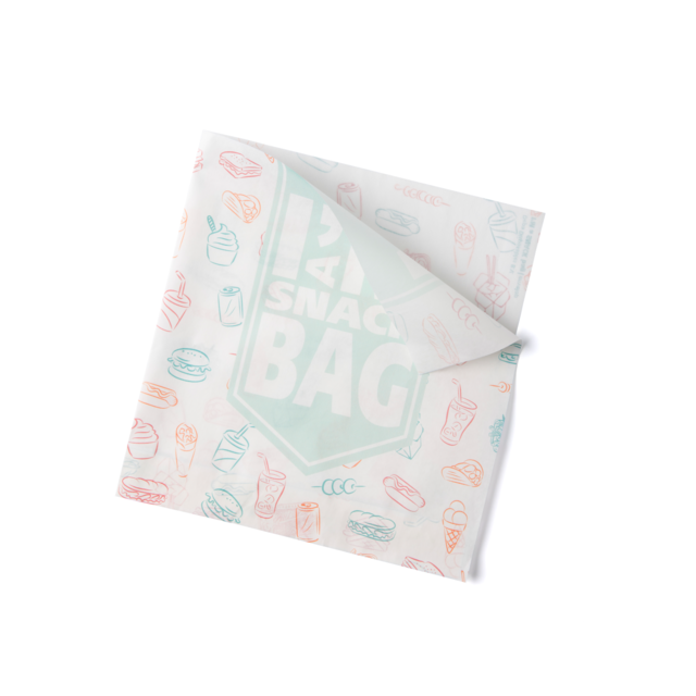 I'M a Concept Snack bag, Greaseproof, 16x15cm, I'M a SNACK, white 1