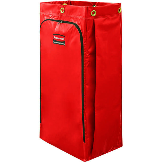 Rubbermaid Bag, Recyclingzak, Vinyl, 128l, 445x838x267mm, red 1