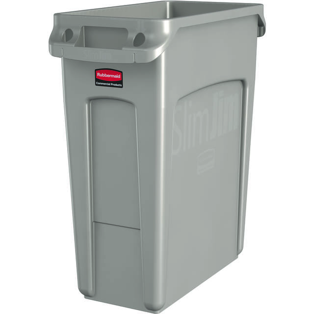 Rubbermaid, Waste bin, 227918, Slim Jim, Plastic , 60l, 635x279x559mm, Beige 1