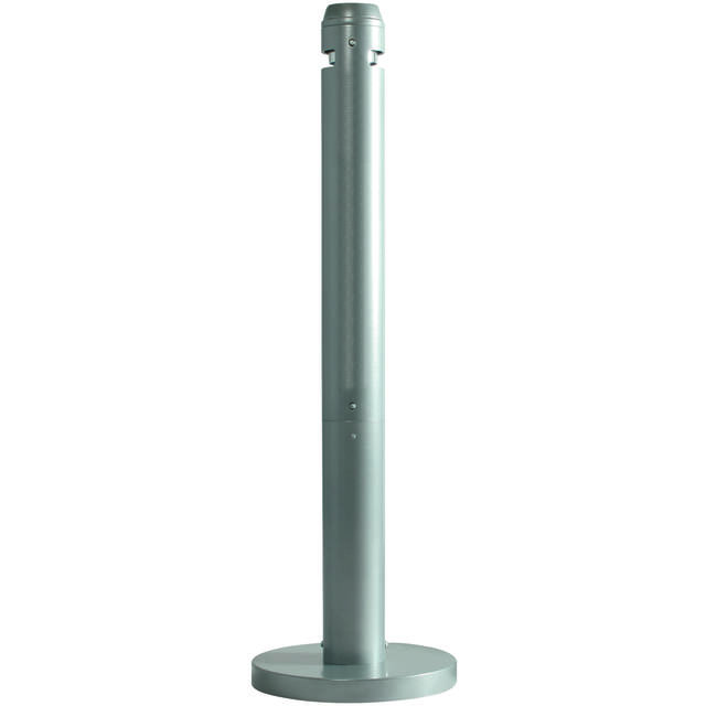 Rubbermaid Smoking post , Aluminum , silver 1