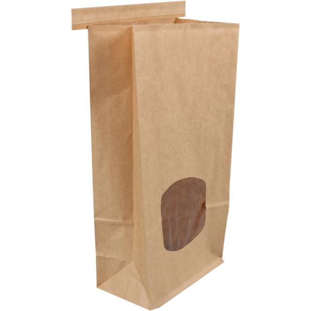 6899311323 Bag, Food bag, Kraft paper, 72x246x115mm, brown (242602), Neutraal ...