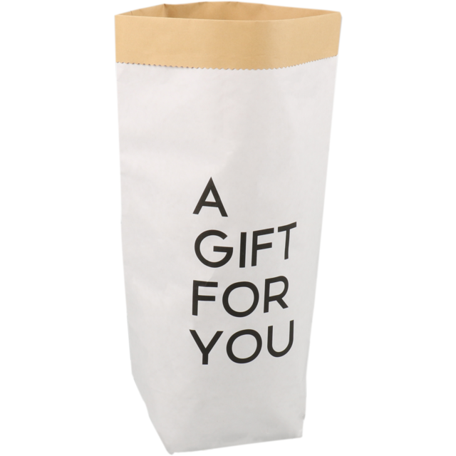 LOVLY® Bag, Cadeauzak, Paper, 25/ 12x40cm, A gift for you, white 1