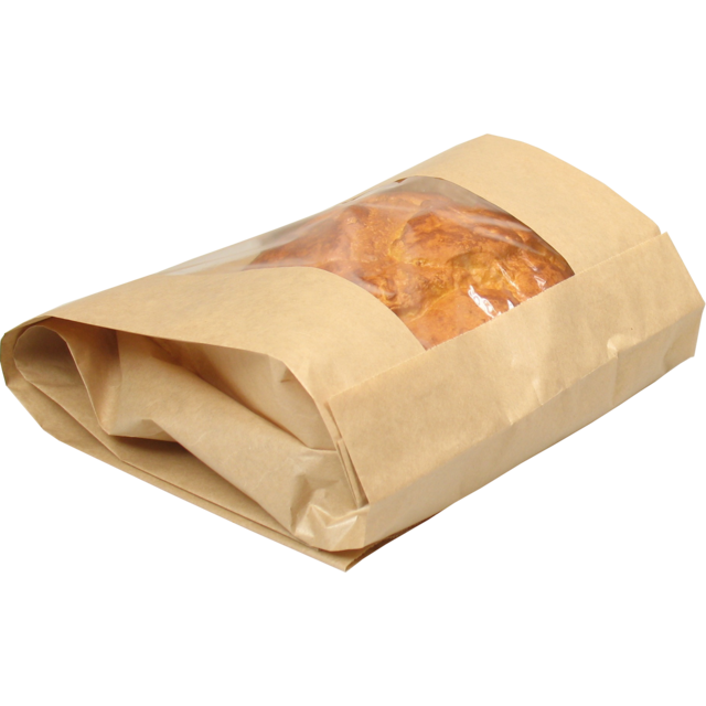Bread and pastry bag, Paper+kst, 21/10x42cm, brown 1