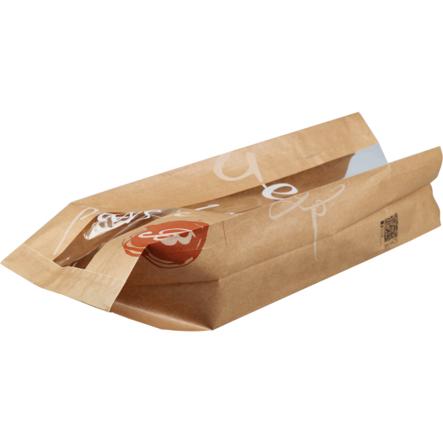 Bag, Bread and pastry bag, Paper, 16/10x50cm, Delicious, brown 1