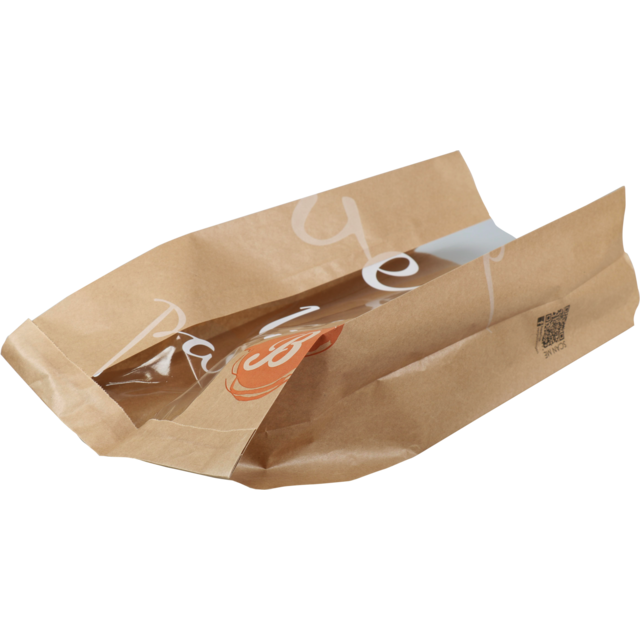 Bag, Bread and pastry bag, Paper, 21/10x44cm, Delicious, brown 1