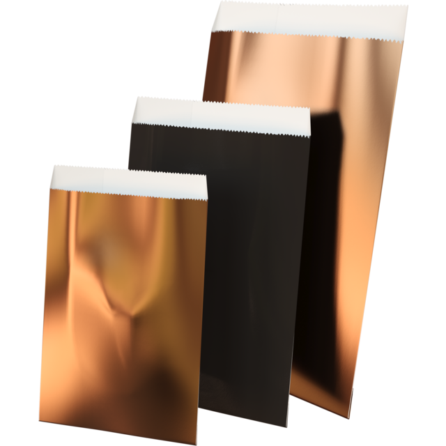 LOVLY® Gift bags, Paper, 7x13cm, copper 1