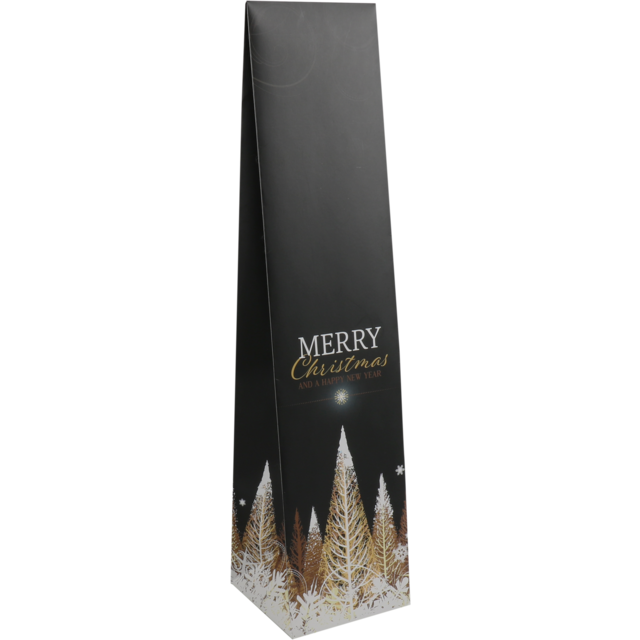 Bag, Bottle bag, Paper, 9.5x41cm, x9.5cm, Golden Tree, black 1