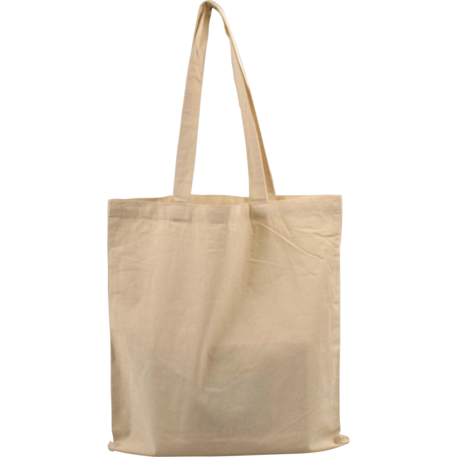 Bag, Cotton, 38x42cm, loop handled carrier bag, beige 1