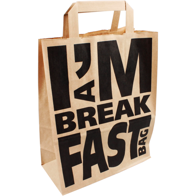 I'M a Concept Bag, Kraft, flat paper handles, 22x10x28cm, paper carrier bag, brown 1