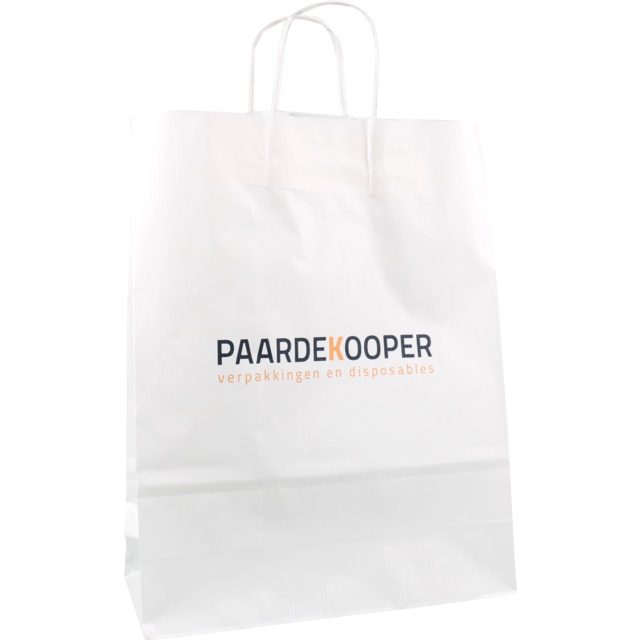 best authentic performance sportswear best service Bag, Your own printing, 1 zijde, Kraft paper, Twisted-paper cord, 32x  12x41cm, carrier bag, white